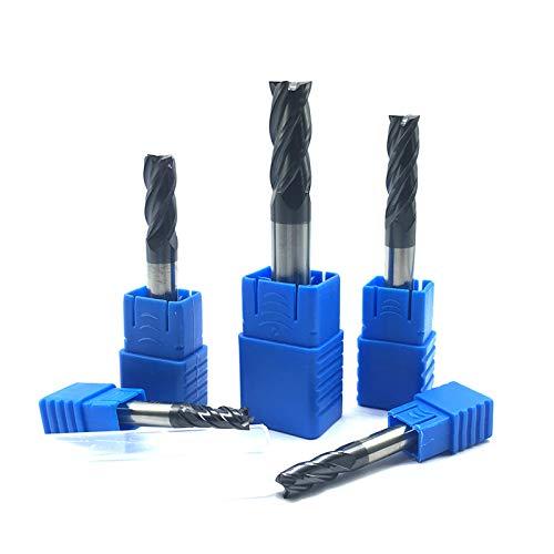 Endmills 4Mm 5Mm 6Mm 8Mm 12Mm 4 Flute HRC50 Carbide Endmill Machine Tungsten Steel Cnc Milling Cutter End Mill Machine Tools 5.0x6Dx50L 2 PCS ()