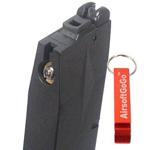 WE Long Cargador 50rds para M9 M92F Serie GBB AirsoftGoGo Llavero Incluido M92