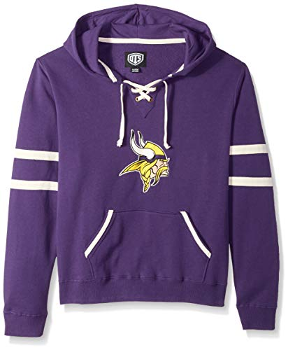 OTS NFL Adult Womens Grant Lace Up Pullover Hoodie