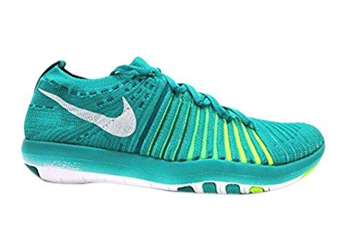 Nike Women Transform Trasforma Flyknit Clear Jade / White-rio Teal-voltage Green (5)