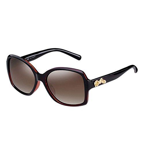 de Mujeres grabadas Redonda de Color UV de de Gafas Protección la de Sol la DT Vintage Sol 4 Las Cara Grandes 3 Gafas Moda polarizadas x1YzP4fq