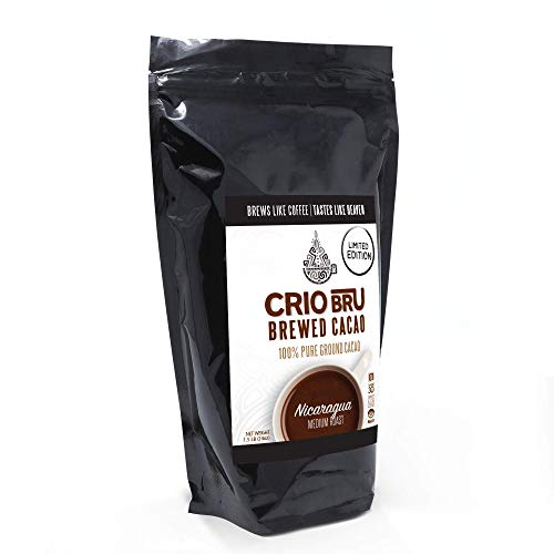 Crio Bru Limited Edition Nicaragua 24oz (1.5 lb) Bag | Natural Healthy Brewed Cacao Drink | Great Substitute to Herbal Tea and Coffee | 99% Caffeine Free Gluten Free Whole-30 Low Calorie Honest Energy