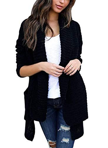 401126a23c Womens Cardigan Sweater Knit Open Front Drape Lightweight Loose Casual  Sweaters Features  Open front