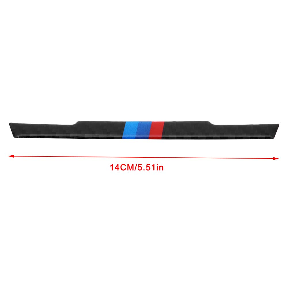 KIMISS Carbon Fiber Central Control Decorative Strip Trim For 3 Series F30 2013-2015 F34 2013-2016