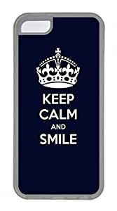 iPhone 5c case, Cute Keep Calm And Smile iPhone 5c Cover, iPhone 5c Cases, Soft Clear iPhone 5c Covers