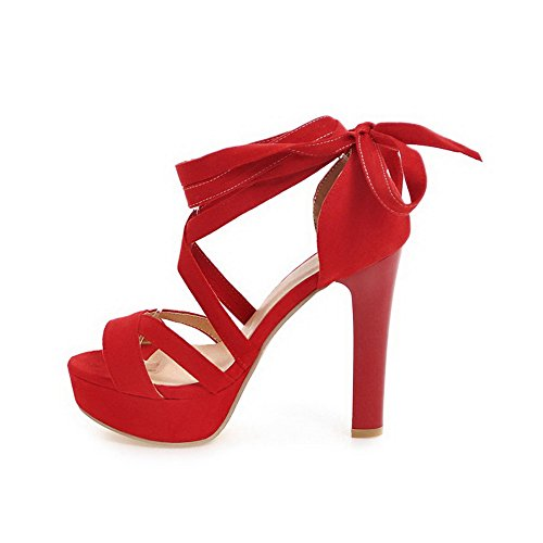 ASL04819 Red Sandals Heel BalaMasa Womens Sandals High Urethane Fashion Ta0S8qxw