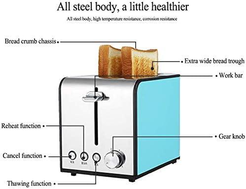 GUOOK Machine à Pain électrique Mode Multifonctionnel de Cuisson à 6 Vitesses Machine à Pain à 2 Fentes - Machine à Pain Multifonction entièrement Automatique Petits appareils