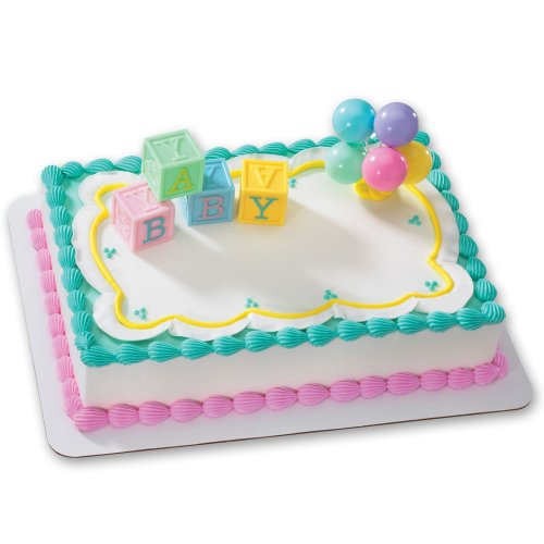 B-A-B-Y Blocks DecoSet Cake Decoration]()