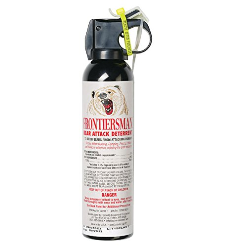 Frontiersman Bear Spray - Maximum Strength & Maximum Range - 35 Feet (9.2 oz) Or 30 Feet (7.9 oz)