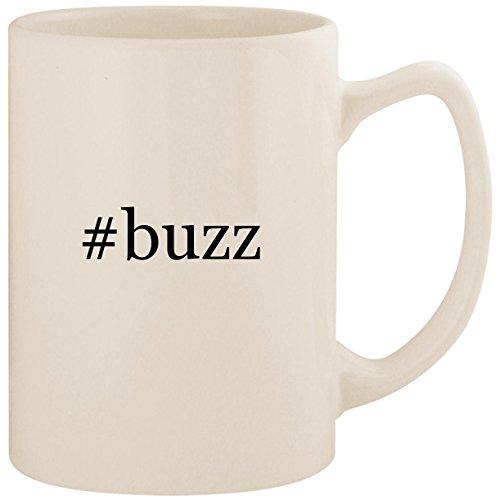 #buzz - White Hashtag 14oz Ceramic Statesman Coffee Mug Cup (Gi Joe Buzz Aldrin)