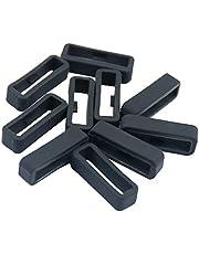 IPOTCH 10 stuks zachte rubberen horlogeband lussen siliconen horlogeband Keeper houder lus voor Garmin - zwart