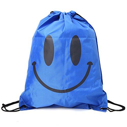 Dabixx zaino Smile Face shopping Bags, borsa da viaggio impermeabile Beach bags-hot rosa, Tessuto Oxford, Hot Pink, 43x33cm/16.93x12.99 Blue