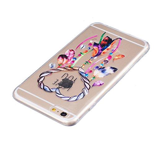"Hülle iPhone 7, IJIA Ultra Dünnen Bunte Windspiele TPU Weich Silikon Handyhülle Schutzhülle Handyhüllen Schale Cover Case Tasche für Apple iPhone 7 (4.7"") + 24K Gold Aufkleber"