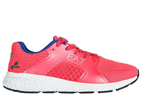 Emporio Armani EA7 Zapatos Zapatillas de Deporte Mujer Nuevo Spirit Basic Rosa