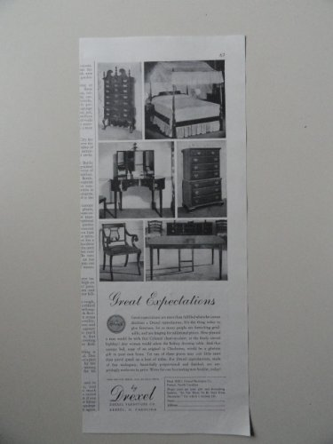 Drexel Furniture Co.,1939 illustration, print ad. (Great Expectations) Original 1939 Better Homes and Gardens Magazine Print Art. - Drexel Furniture