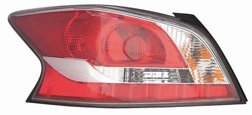 Nissan Altima Tail Light Cover - Go-Parts OE Replacement for 2014-2015 Nissan Altima Rear Tail Light Lamp Assembly/Lens / Cover - Left (Driver) Side 26555-9HM0A NI2800203 for Nissan Altima