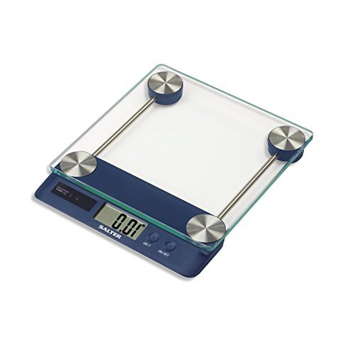 Salter Touchless Tare Digital Kitchen Scale (Blue) by Taylor