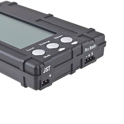 niceeshop(TM) 3 in RC 2s-6s Lipo Li-Fe LCD Voltage Meter Battery Balancer Tester Discharger (Black)