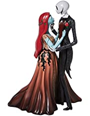 Enesco Disney Showcase Couture de Force The Nightmare Before Christmas Jack and Sally Embracing Figurine, 9.5 Inch, Multicolor