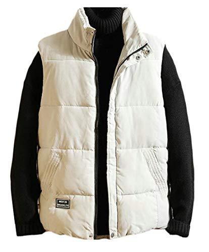 Jacket Coat Solid Full Men Warm Puffer TTYLLMAO Grey Vest Zip Waistcoat Down XnzSfvf4