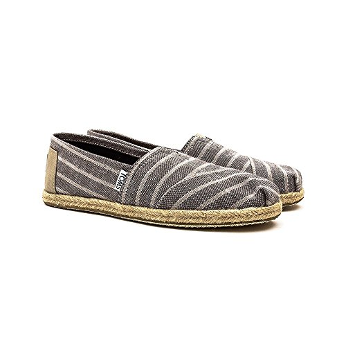 color mujer talla Zapatos Marrón negro Sole Rope 1019B09R 5 para Toms 38 nCxqFXSwYC