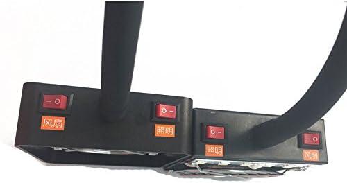 Faway Ventilador de escape para soldar con iluminaci/ón LED extractor de humo