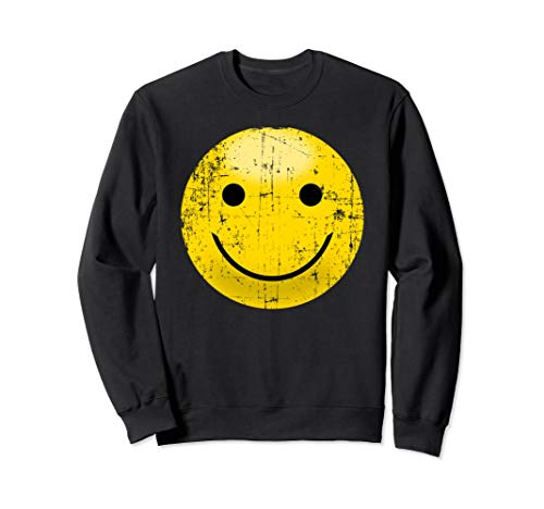 Vintage Smiley Face Shirt - Smile Face Happy 80s Vibe Yellow - Smiley T-shirt Yellow