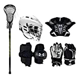 Under Armour Strategy Youth Lacrosse Starter Set W/Complete Stick (Cascade CS-R Helmet) (Youth Medium)