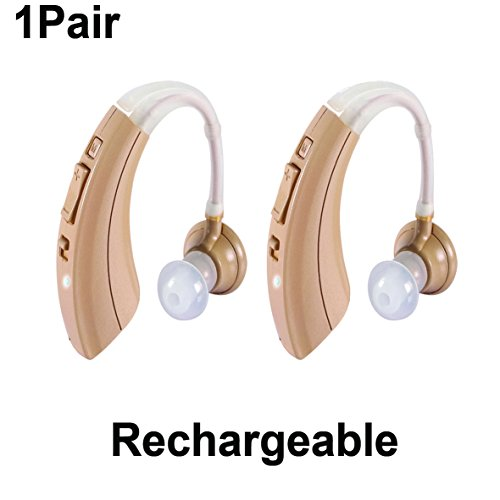 New 1 Pair Ez 220T  Rechargeable Digital Hearing Amplifiers  Clearly Technology Includes Carrying Cases  Ear Buds  Cleaning Brushes  Manual Guides  Trademark  Easyuslife