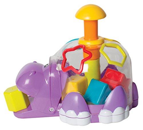 Playgro 6385458 Hippo Spinning Shape Sorter STEM Toy for 1-3+
