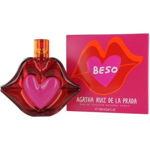 Agatha Ruiz De La Prada Beso Eau de Toilette Spray, 3.4 Ounce