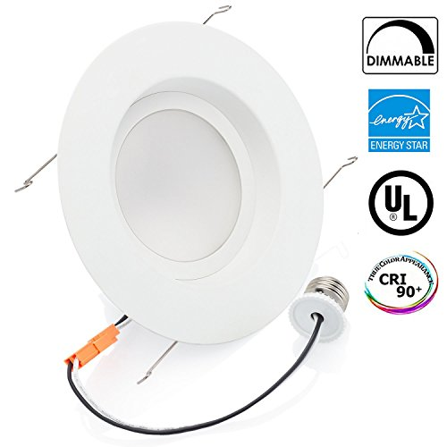 White Recessed Lighting (Sunco Lighting 13Watt 5/6-inch ENERGY STAR UL-listed Dimmable LED Recessed Lighting Fixture Retrofit Downlight - 2700K Soft White LED Ceiling Light -- 830LM, Meets Title 24 Requirements, ROHS)