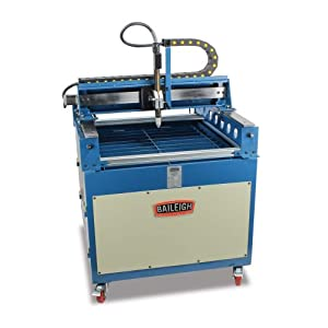 """Baileigh PT-22 CNC Plasma Cutting Table with 5"""" Casters, 110V, 3/4"""" Mild Steel Capacity, 31"""" Length x 29"""" Width"""