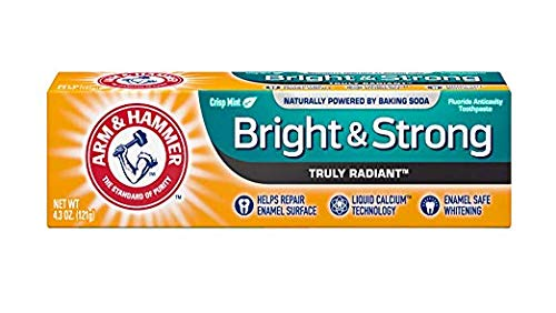 - ARM & HAMMER Bright & Strong Truly Radiant Toothpaste, Crisp Mint 4.3 oz (Pack of 4)