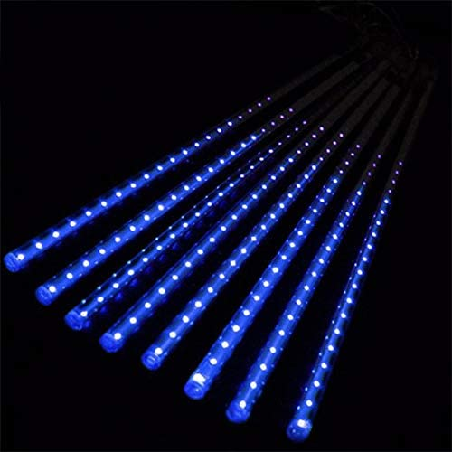 Miniao Upgrade Meteor Lights, 20 inches 10 Tube 480 LEDs Meteor Shower Rain Lights Waterproof Decoration Light Falling String Lights for Wedding Party Christmas Lights Blue