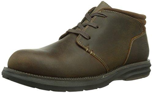 Skechers VolteHerick - zapatilla deportiva de piel hombre marrón - Braun (CDB)