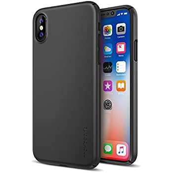 Maxboost iPhone X Case, mSnap Series for Apple iPhone X 2017 [Perfect Fit] [Black] EXTREME Smooth Surface [Scratch Resistant] Matte Coating for iPhone X Excellent Grip Thin Hard Protective PC Cover