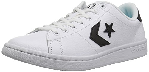 Converse Women's All-Court Low TOP Sneaker, Black/White, 8 M US