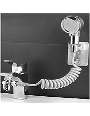 JUSTJING Bathroom Basin Faucet Extender External Shower Head Washbasin Tap Water Divider Bidet Sprayer for Hair Washing Toilet Cleaning