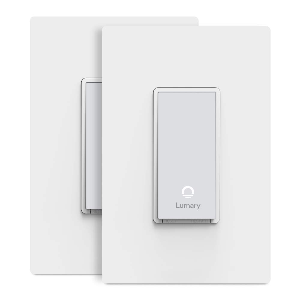Lumary L-S300 3-Way Smart Light Switch with Wifi and Voice Control, Compatible with Alexa, Google Assistant, IFTTT - 2 Pack (No Hub required)