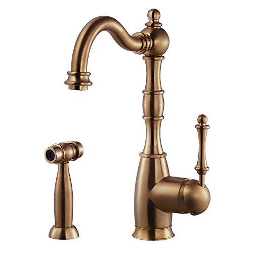 Houzer REGSS-181-AC Regal Traditional Kitchen Faucet, Antique Copper