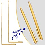 OIIKI 2PCS Dowsing Rods, Retractable divining rods, Portable Pen Shape L Rods, for Ghost Hunting Tools, Divining Water, Treasure, Buried Items etc
