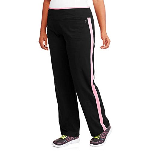 52a101c8209 Danskin Now Women s Plus Size Performance Pant With Side Seam Color Accent