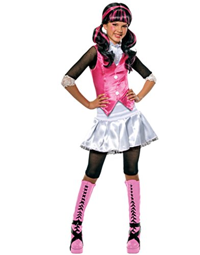 High Monster Custom (Girls Monster High Draculaura School Dracula Costume And Wig Bundle Medium)