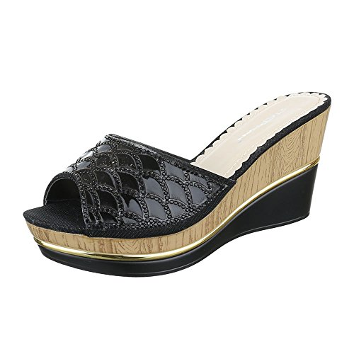 Ital-Design - zapatillas de baile (jazz y contemporáneo) Mujer, color negro, talla 38 EU
