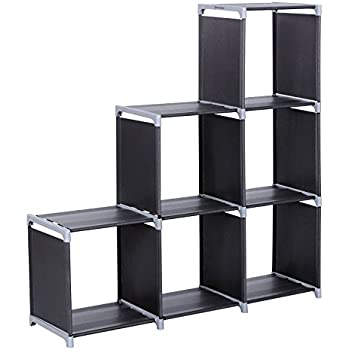 langria 16 cube diy modular shelving storage organizing open closet with translucent. Black Bedroom Furniture Sets. Home Design Ideas