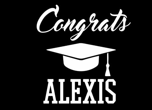 (Congrats Alexis: Graduation Cap Guest Signing Book For Party, Personalized Gift. Graduate Advice or Autograph Book Lined. (Tassel)