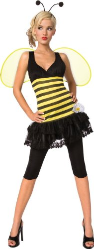 Toy Island Girls Adult Honeybee Costume, Large/Size 14-16 - Honey Bee Child Costumes