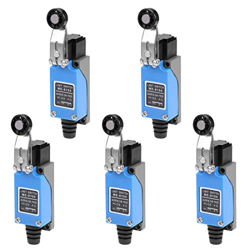 (uxcell ME-8104 Roller Lever Arm Momentary Limit Switch 1NC+1NO 5Pcs)
