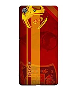ColorKing Football Spain 08 Red shell case cover for Sony Xperia Z3
